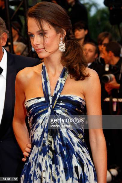 Agathe Borne arrives at the premiere for the film 'Vicky Cristina Barcelona' at the Palais des Festivals during the 61st International Cannes Film...