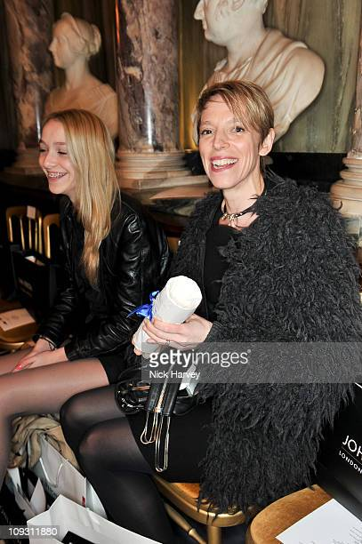 Agathe Chapman and Tiphaine Chapman attend the Antonio Berardi Show at London Fashion Week Autumn/Winter 2011>> at on February 20, 2011 in London,...