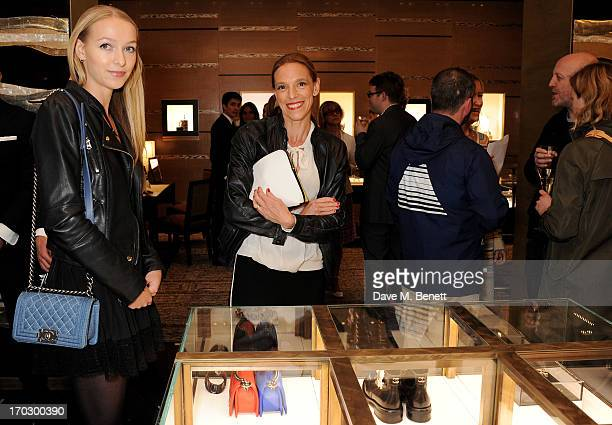 Agathe Chapman and Tiphaine de Lussy attend a private view of the new CHANEL flagship boutique on New Bond Street on June 10, 2013 in London, England.