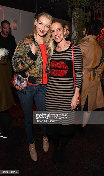 Agathe Chapman and Tiphaine de Lussy attends the Bistrotheque Christmas Dinner in honour of artist Prem Sahib at Bistrotheque on November 30 2015 in...