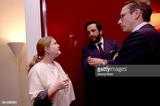 Agathe DavidWeill Mordacq Ahmad Sardar Afkhami and Pierre Mordacq attend An Evening with Robert Couturier and Friends at 432 Park Avenue on January...