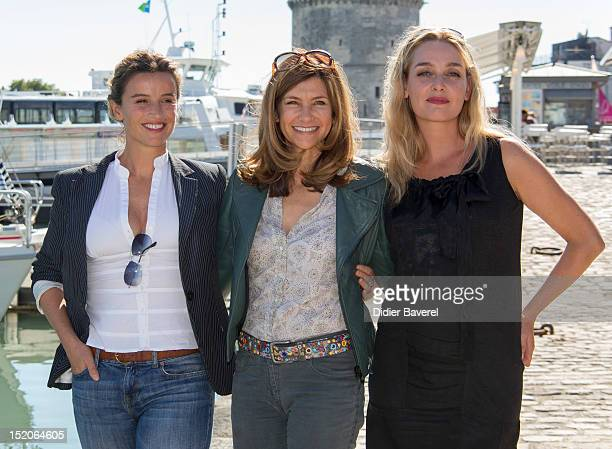 Agathe de la Boulaye Florence Pernel and Elise Tielrooy pose during the 'Mes amis mes Amours mes Emmerdes' Photocall at La Rochelle Fiction...