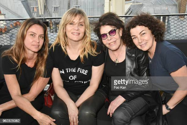 Agathe de la Fontaine actress Emmanuelle Seigner singer Dani and Tina Sportolaro attend Tribute To Hubert Boukobza Boss of Les Bains Douches Club...