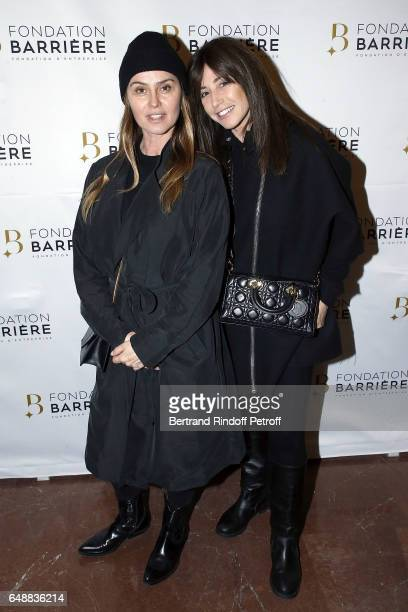 Agathe de la Fontaine and Albane Cleret attend 'Monsieur Madame Andelman' Premiere Hosted By Fondation Barriere at Cinema Elysee Biarritz on March 6...
