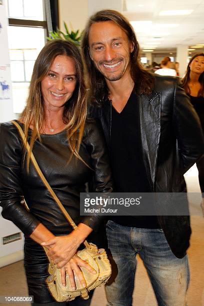 Agathe de la Fontaine and Bob Sinclar attend the Aurel BCG Charity Day Benefit 'Les Petits Cracks' on September 13 2010 in Paris France