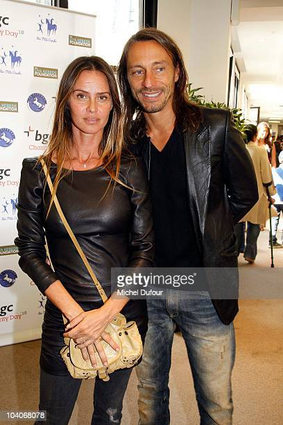 Agathe de la Fontaine and Bob Sinclar attend the Aurel BCG Charity Day Benefit 'Les Petits Cracks' on September 13 2010 in Paris France