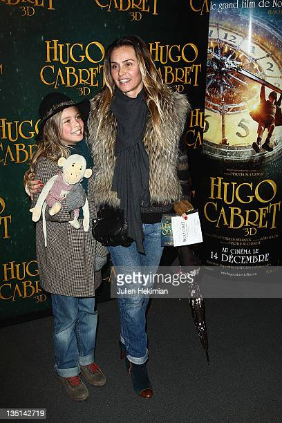 Agathe de la Fontaine and her daughter Zoe attend 'Hugo Cabret 3D' Photocall at Cinema UGC Normandie on December 6 2011 in Paris France