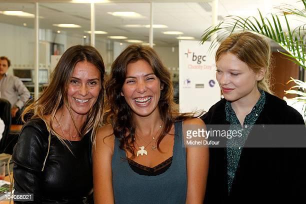 Agathe de la Fontaine Tamara Kaboutchek and Lea Seydoux attend the Aurel BCG Charity Day Benefit 'Les Petits Cracks' on September 13 2010 in Paris...