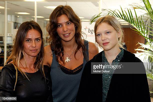Agathe de la Fontaine Tamara Kaboutchek and Lea Seydoux attend the Aurel BCG Charity Day Benefit 'Les Petits Cracks' on September 13 2010 in Paris...