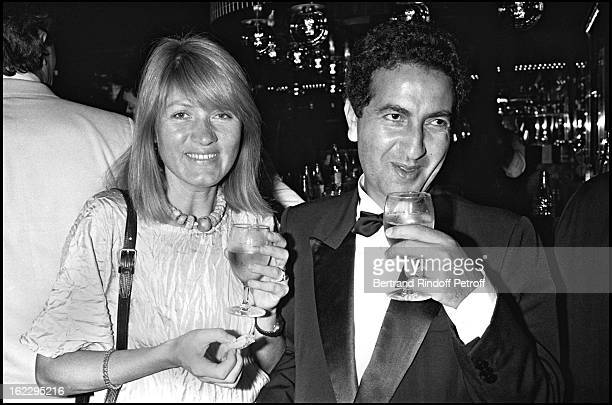 Agathe Godard and Jeannot at a party in L'Elysee Matignon Paris 1982
