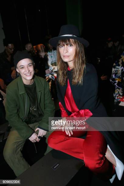 Agathe Mougin and Caroline de Maigret attend the Haider Ackermann show as part of the Paris Fashion Week Womenswear Fall/Winter 2018/2019 on March 3...