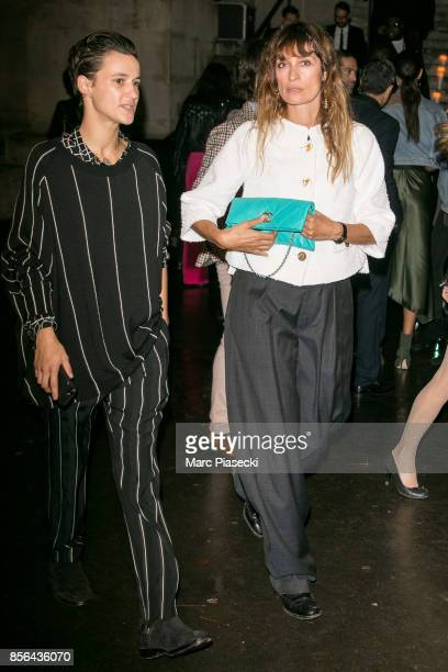 Agathe Mougin and Caroline de Maigret attend Vogue Party as part of the Paris Fashion Week Womenswear Spring/Summer 2018 at on October 1 2017 in...