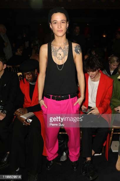 Agathe Mougin attends the Ami Alexandre Mattiussi Menswear Fall/Winter 20202021 show as part of Paris Fashion Week on January 14 2020 in Paris France