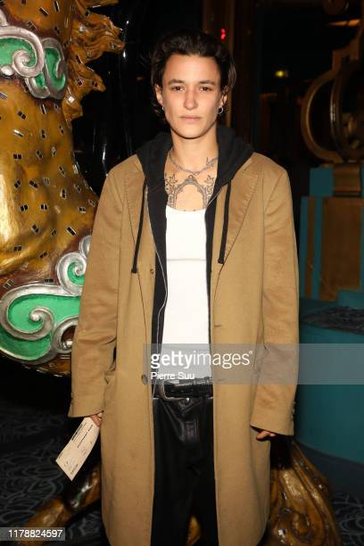 Agathe Mougin attends the Elephant Man Premiere At Folies Bergeres on October 03 2019 in Paris France
