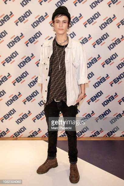 Agathe Mougin attends the #Fendimanianew collection launch at Fendi flagship store Rue Saint Honore on October 16 2018 in Paris France
