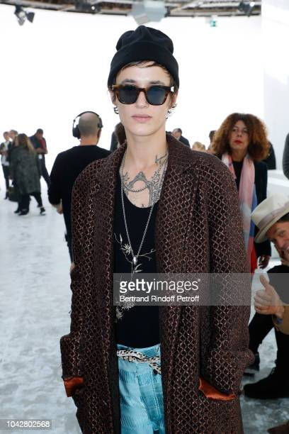 Agathe Mougin attends the Haider Ackermann show as part of the Paris Fashion Week Womenswear Spring/Summer 2019 on September 29 2018 in Paris France