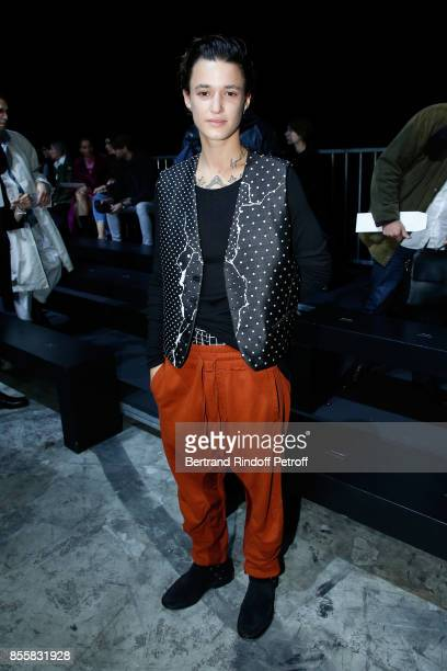 Agathe Mougin attends the Haider Ackermann show as part of the Paris Fashion Week Womenswear Spring/Summer 2018 on September 30 2017 in Paris France