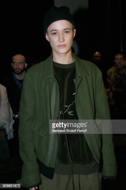 Agathe Mougin attends the Haider Ackermann show as part of the Paris Fashion Week Womenswear Fall/Winter 2018/2019 on March 3 2018 in Paris France