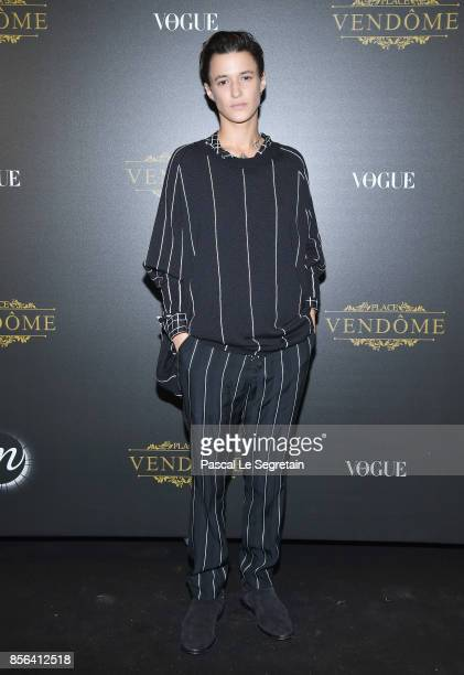 Agathe Mougin attends the Irving Penn Exhibition Private Viewing Hosted by Vogue as part of the Paris Fashion Week Womenswear Spring/Summer 2018 on...