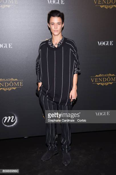 Agathe Mougin attends Vogue Party as part of the Paris Fashion Week Womenswear Spring/Summer 2018 at on October 1 2017 in Paris France