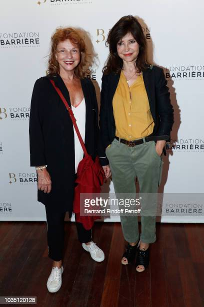 Agathe Natanson and Evelyne Bouix attend 'Les Chatouilles' Premiere hosted by Fondation Diane Lucien Barriere at Drugstore Publicis Cinema on...