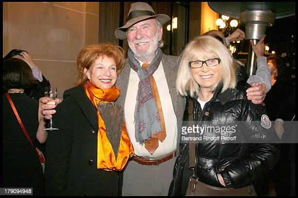 Agathe Natanson Jean Pierre Marielle and Mireille Darc at Prix Cine Roman Carte Noir 2009