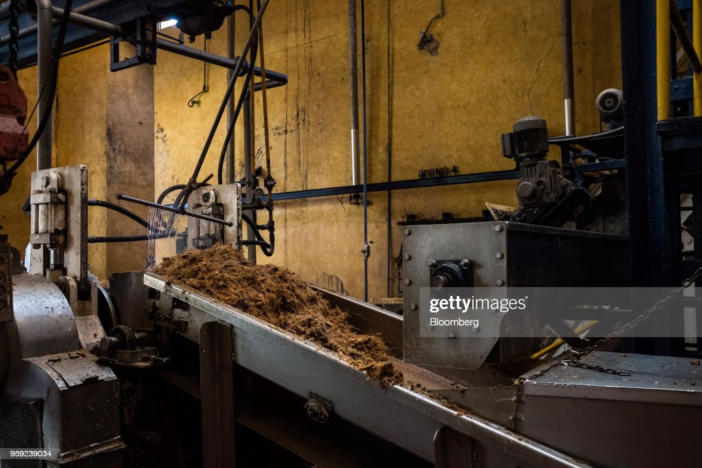 Agave fibers move down a conveyor belt at the Becle SAB Jose Cuervo distillery in the town of Tequila, Jalisco state, Mexico, on Thursday, May 3, 2018. Jose Cuervo sales are benefiting from the trend toward premium spirits, with solid volume and higher average prices driving mid- to high-single-digit top-line growth.Photographer: Mauricio Palos/Bloomberg via Getty Images