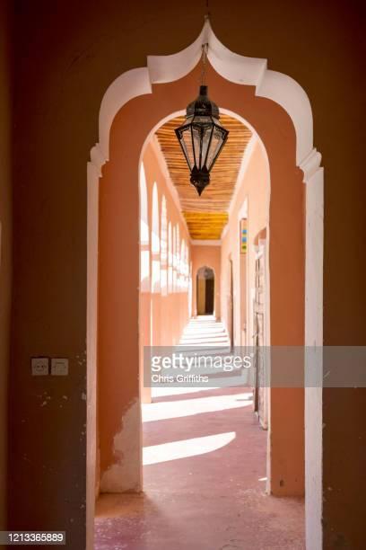 agdz, draa valley, southern morocco - deurkozijn stockfoto's en -beelden