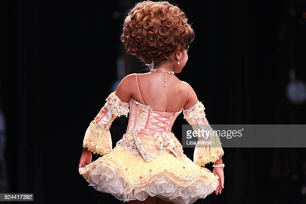 MB age 8 performing her beauty walk during the Darling Divas Candy Land beauty pageant at the Kimble theatre in Brooklyn New York on July 21 2012...