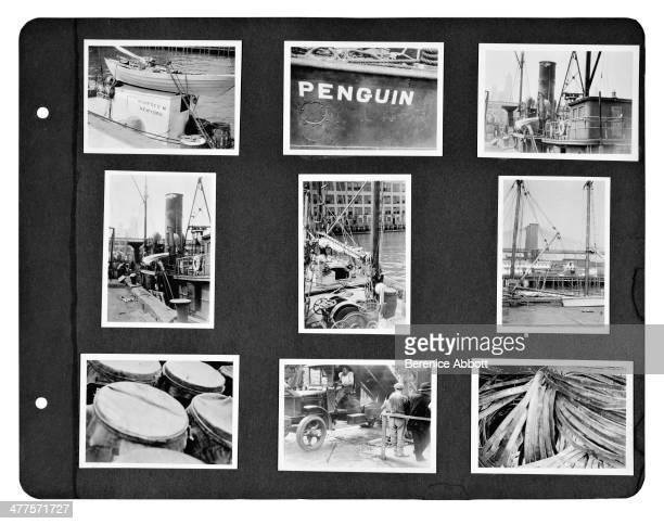 A age from a Berenice Abbott photo album depicting New York City New York circa 1930