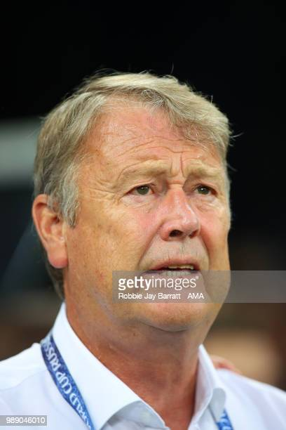 Age Hareide head coach / manager of Denmark looks on prior to the 2018 FIFA World Cup Russia Round of 16 match between Croatia and Denmark at Nizhny...