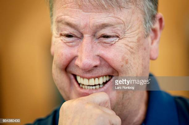 Age Hareide head coach of Denmark during the Denmark press conference at Clarion Hotel Copenhagen Airport on March 19 2018 in Copenhagen Denmark