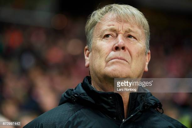Age Hareide head coach of Denmark looks on prior to the FIFA 2018 World Cup Qualifier PlayOff First Leg match between Denmark and Republic of Ireland...