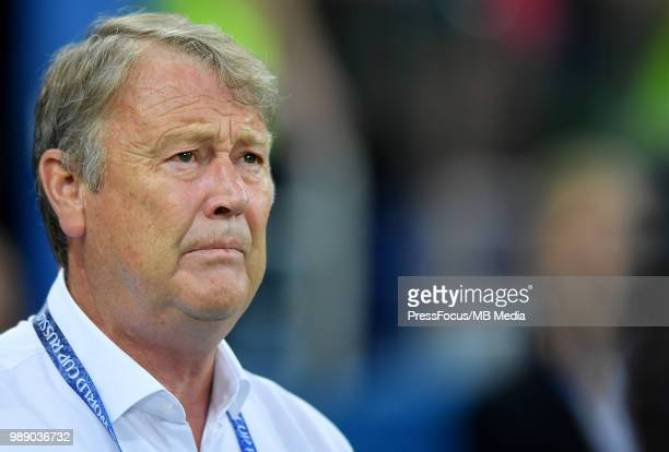 Age Hareide Manager of Denmark during the 2018 FIFA World Cup Russia Round of 16 match between Croatia and Denmark at Nizhny Novgorod Stadium on July...