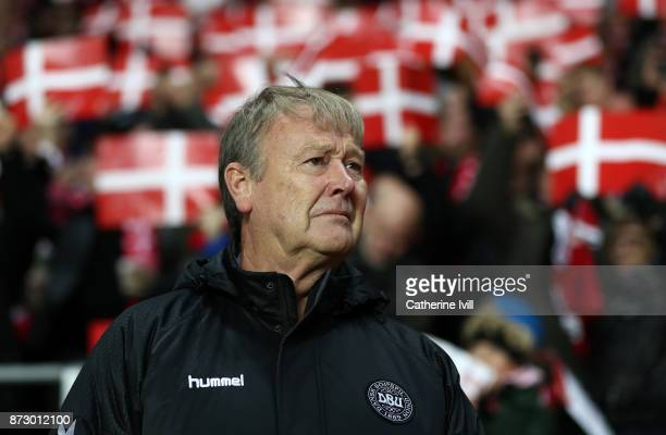 Age Hareide manager of Denmark during the FIFA 2018 World Cup Qualifier PlayOff First Leg between Denmark and Republic of Ireland at Telia Parken on...