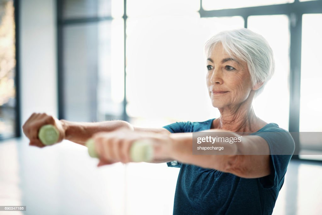 Age is no excuse to slack on your health : Stock Photo