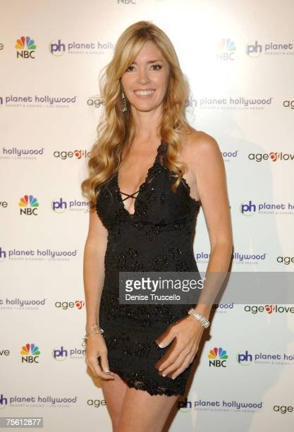 Age Of Love contestant Jodie Fisher attends Mark Philippoussis Age Of Love viewing party with cougars and kittiens at Planet Hollywood Resort and...