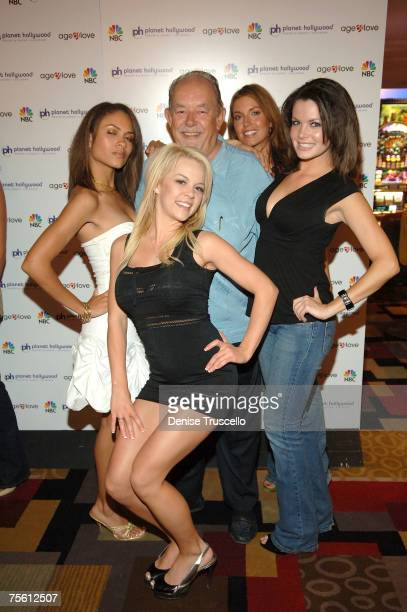 Age Of Love contestants Lauren Bryant Tessa Walker Adelaide Dawson Mary Sanks and Robin Leach attend Mark Philippoussis Age Of Love viewing party...