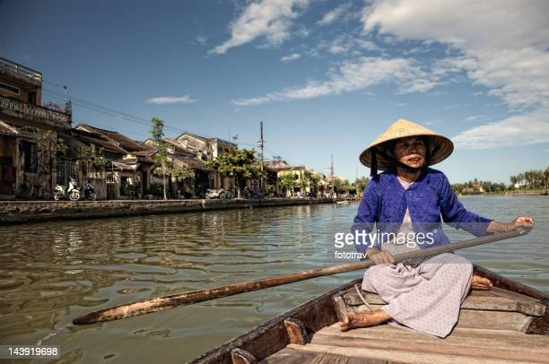 Aged Asian woman in Vietnam