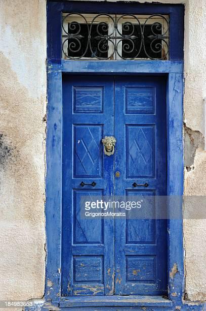 Aged Blue Door