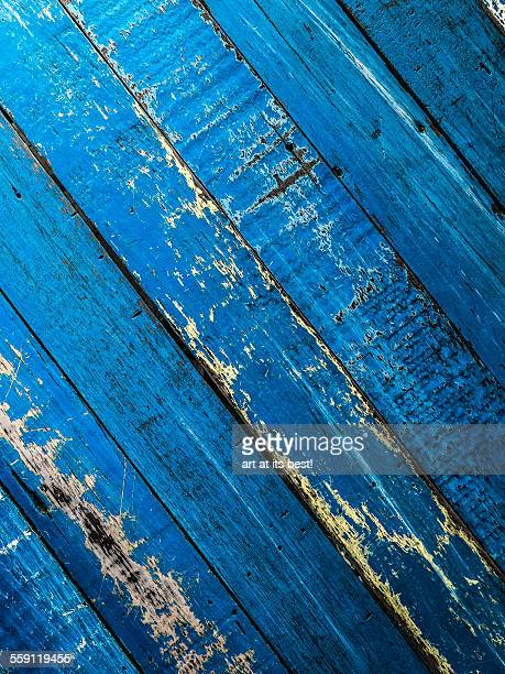 Aged blue table