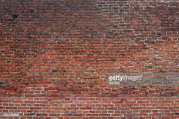 Aged Brick and Mortar Exterior Wall Background Wallpaper