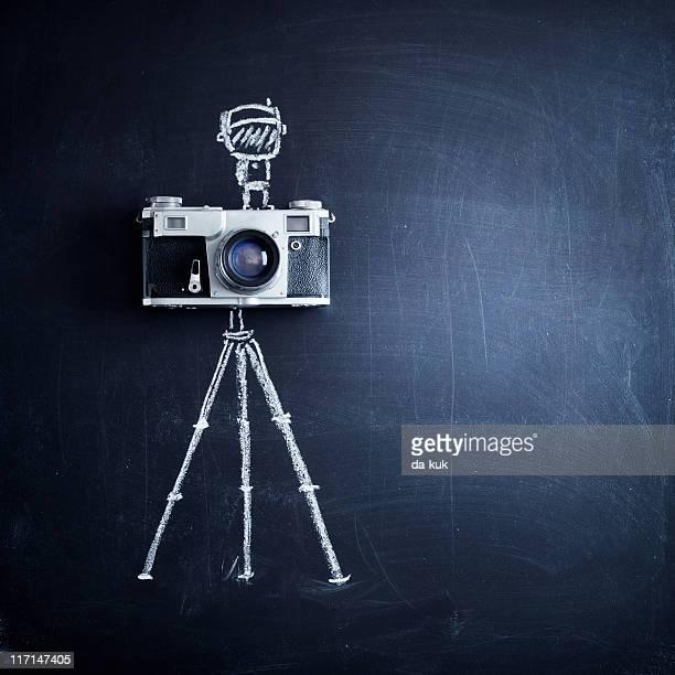 Alter Kamera auf Stativ