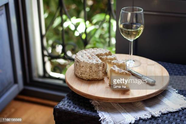 aged goat cheese - artisanal food and drink stock pictures, royalty-free photos & images
