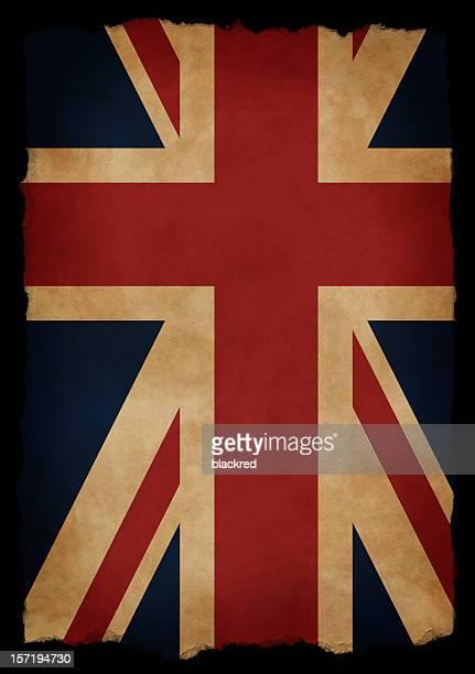 Aged UK Flag