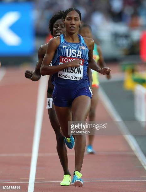 Agee Wilson of United States competes in the Women's 800m heats during day seven of the 16th IAAF World Athletics Championships London 2017 at The...