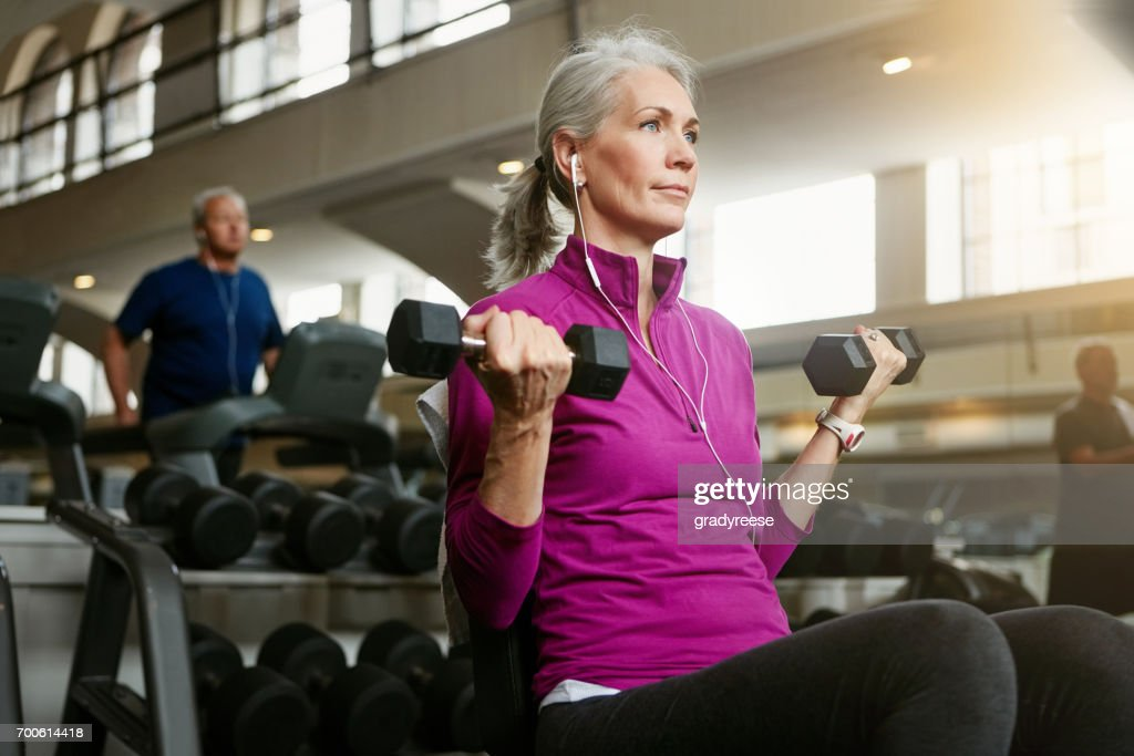 Ageing is a must but being fit is a choice : Stock Photo