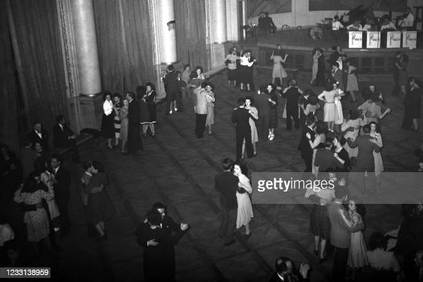 Agence France Presse employees dance at the agency's ball in May 1948 in Paris.
