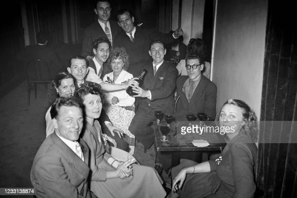 Agence France Presse employees have fun at the agency's ball in May 1948 in Paris.