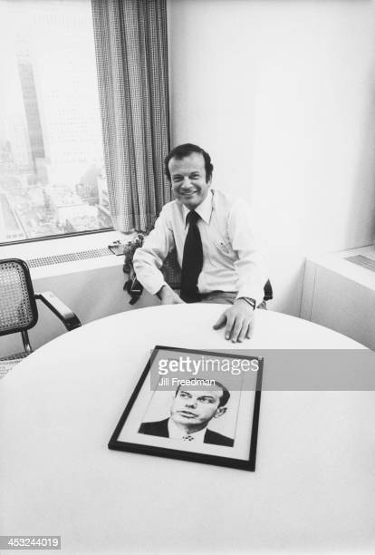Agency Media Director Michael Ephron shows a copy of 'Media Decisions' magazine at his desk in the 'Scali McCabe Sloves' advertising agency Madison...